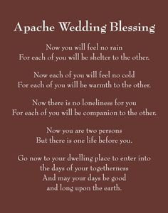 Apache Wedding Blessing- used with my wedding vows. Still makes me cry. quotes getting married Items similar to Apache Wedding Blessing Custom Wedding Print - First Anniversary Paper Gift - on Etsy Wedding Blessing, Wedding Poems, Our Wedding, Wedding Speeches, Nontraditional Wedding Ceremony, Wedding Wishes Quotes, Wedding Stuff, Wedding Toast Quotes, Simple Wedding Vows