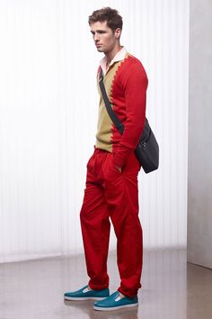 Bottega Veneta Mens Cruise 2016 Collection Wrapped in Red