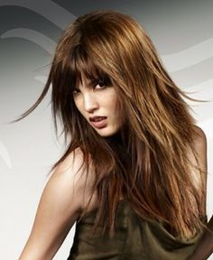 haircuts for long hair hairstyles with fringe wanna give your hair a 9424 | b58ae038bd3656bd8af9424b976d48e6 long choppy hairstyles haircut long