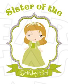 Cute Sofia the First Sister of the birthday girl INSTANT DOWNLOAD digital clip art :: My Heart Has Ears