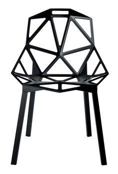 Chaise empilable Chair one / Métal Noir / Pieds noirs - Magis - Décoration et mobilier design avec Made in Design