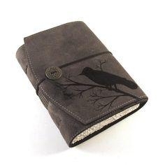 Black Bird, Leather Journal - $48