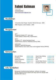 Cv Template Bahasa Indonesia Bahasa Cvtemplate Indonesia Template Riwayat Hidup Cv Kreatif Bahasa Indonesia