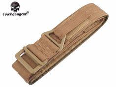 Emersongear Wildland Belt Airsoft Painball Men sports belt belt jungle digital Tactical Belt, Military Training, Rappelling, Military Army, Emerson, Airsoft, Canvas, Brown, Sports