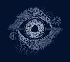 ODIN'S EYE by The Effective Pictures We Offer You About T-shirt print A quality picture can tell you many things. You can find the most beautiful pictures that can be presented to you about T-shirt fo Tatoo Symbol, Rune Tattoo, Norse Tattoo, Celtic Tattoos, Viking Tattoos, Odin Symbol, Eye Symbol, Thai Tattoo, Maori Tattoos