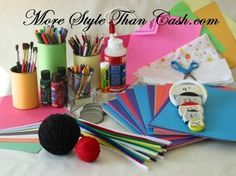 Good ideas for cheap cheerful children craft fun