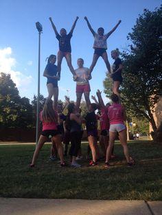 Cheerleaders at practice!
