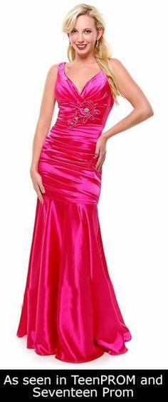 Hot Pink Mermaid Bridesmaid Dress Plus Size Pleated Wide Strap Floral Mermaid Bridesmaid Dresses, Bridesmaid Dresses Plus Size, Mermaid Dresses, Prom Dresses, Formal Dresses, Silk Satin Dress, Satin Dresses, Hot Pink Dresses, 1930s Fashion