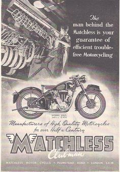 Manufacturer Matchless  Detail Model G3 L ndash Original Advert  Size A4  Colour B W  Year 1949  Reference