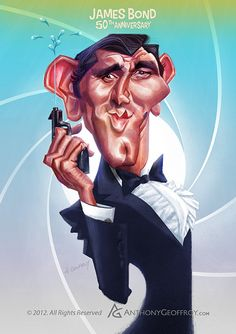 James Bond 50th Anniversary by Anthony Geoffroy, via Behance