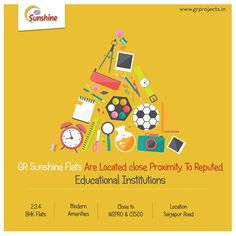 GR Sunshine Flats Are Located close Proximity To Reputed Educational Institutions  #flatsinbangalore #realestatebangalore  To Know more (Or) Booking: Visit: http://grprojects.in/apartments/sunshine/ (Or) Call: +91 888 068 1616