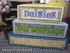 Spring and Easter  Stackable Wooden Blocks Bundle - DIY Craft.