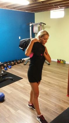 Sandra is strong! Crazy strong even for her first workout!