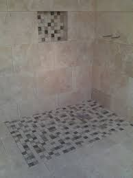 mosaic tiles around wet room floor - Google Search | Ideas for the ...