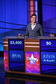 Aaron Rodgers wins on Celebrity Jeopardy! Rodgers appeared along with Shark Tank star Kevin O'Leary and retired astronaut Mark Kelly. The episode was taped in March and aired on May Photos by Jeopardy Productions, Inc. Packers Baby, Green Bay Packers, Kevin O'leary, Mark Kelly, Go Pack Go, Aaron Rodgers, Great Team, Media Center, Sport Girl