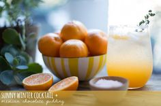 Sunny Winter Cocktail + Mexican Chocolate Pudding | The Sweetest Occasion