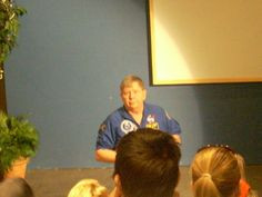 astronaut Dr. Crouch at Roper Mountain Space Center
