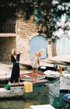 "somerollingstone: ""Charlie Newman & Julia Almendra by Cameron Hammond for Faithfull the Brand Spring 2017 "" Cameron Hammond, European Summer, Faithfull The Brand, Photo Journal, Rolling Stones, Summer Time, Boho Fashion, Italy, Beach"