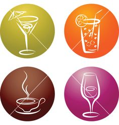 Drinks+and+refreshments+vector+393607+-+by+zoyalipets on VectorStock®