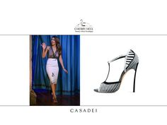 """Jessica Alba wearing Casadei black and white graphic blade sandals at """"Late Night with Jimmy Fallon"""" in NYC. Discover them at Cherry Heel #Barcelona  #casadei #cherryheel #shoes #iloveshoes #shoppingbarcelona #summer2014 #madeinitaly #luxury #style #woman #fashion #redcarpet #italianfashion #italianstyle #bestshop #bestshoes #musthaves"""