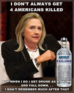 I remember when she was asked to testify about Benghazi...that very minute they said she wasn't well, I knew, I just knew that she had been drunk and fallen!!  I just knew it!  so this isn't a surprise!