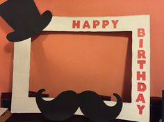 Mustache photo booth frame More
