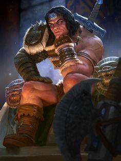 ArtStation - Thor Barbarian, devin platts