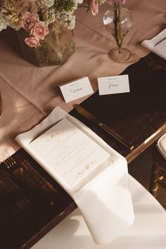Blush Table Runner on Mahogany Farm Tables | Vintage Southern Wedding at Magnolia Plantation Carriage House by Charleston Wedding Planner ELM Events