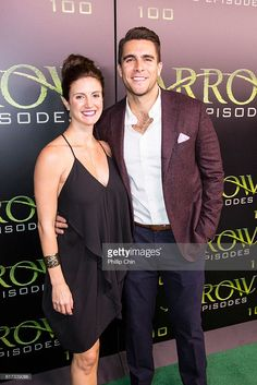 Brace Rice and actor Josh Segarra arrive on the green carpet for the Celebration of the 100th Episode of CW's 'Arrow' at the Fairmont Pacific Rim Hotel on Oct 22, 2016 in Vancouver, BC, Canada.
