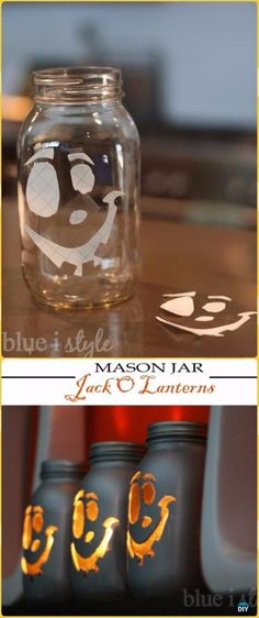 Spooky Halloween Jars Ribbons  Glue Blog Pinterest Halloween - halloween jar ideas