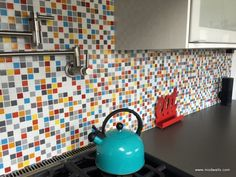 Brio Glass Mosaic Tile Custom Blend by Modwalls. Create your own. Made to order in 1 week.