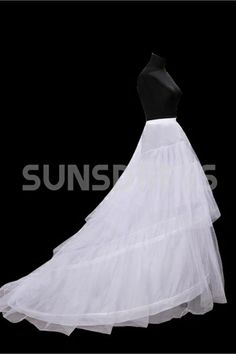 Graceful Cloth Long Tailing Wedding Petticoats