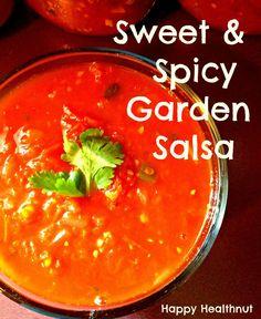 Sweet and Spicy Garden Salsa - Happy Healthnut