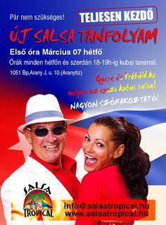 Gyere salsázni! kubai tanár, szuper jó hangulat! Első óra: március 07.hétfő 18h www.salsatropical.hu