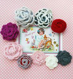 Tuto broche fleur Crochet - Le bonheur est aussi dans la Créativité