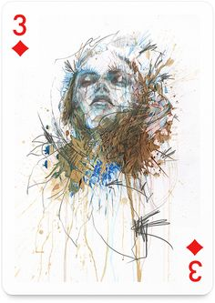 New Ink, Tea and Alcohol Portraits by Carne Griffiths - My Modern Metropolis Belle Collaborative Art Projects, Web Design, Graphic Design, Portrait Sketches, Portraits, Sculpture, Creative Cards, Figurative Art, Mixed Media Art