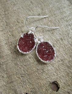 Druzy Earrings Druzy Jewelry Drusy Earrings Drop by julianneblumlo