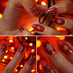Christmas design #nails #hybridnails #christmas #christmasnails #red #rednails #stamping #semilac