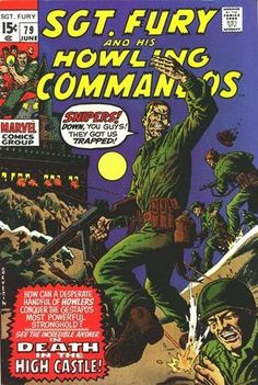 Items similar to Sgt. and the Howling Commandos -vintage -comic books -vintage sgt fury comics book -marvel comic book,fury comic,comic fury on Etsy Dc Comics, Comics For Sale, Frank Miller, Marvel Girls, Deathstroke, Vintage Comic Books, Vintage Comics, Marvel Comic Books, Marvel Characters