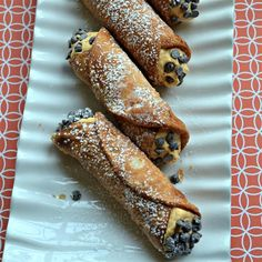 "Pumpkin Cannoli | ""These are really yummy, and they taste like a pumpkin pie cannoli! """