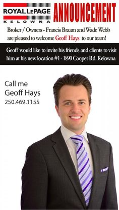 Welcome To The Team Geoff | Royal LePage Kelowna Real Estate