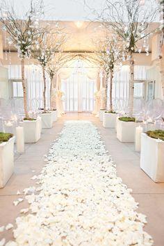 A breathtaking walk down the aisle.  #weddinglighting #weddingceremony #bridalmarch #walkdowntheaisle #weddingday #weddinginspiration #weddingdecor #weddingideas