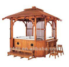 #outdoor spa gazebo, #hot tub wooden gazebo, #outdoor spa gazebo