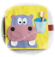 Handmade #hippo #teeth c#leaning activity quiet book page early #leaning felt chil,  View more on the LINK: http://www.zeppy.io/product/gb/2/351734855397/