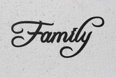 Family Word Metal Wall Art Fancy Script Font