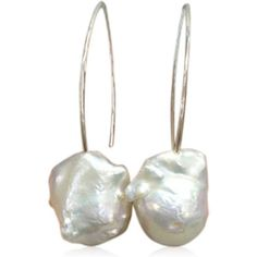 La Mia Cara -Perla Grande - Big Baroque Pearl Sterling Silver #DropEarrings
