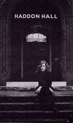 David Bowie outside his old home Haddon Hall