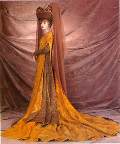 """Female Extra, """"Camelot,"""" Warner Brothers, 1967, Designed by John Truscott The Collection of Motion Picture Costume Design: Larry McQueen"""