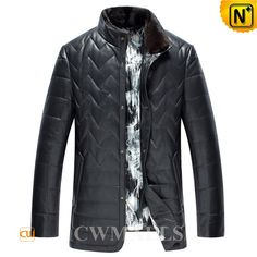 CWMALLS Quilted Down Jackets with Fur Collar CW846032 Mens best leather quilted down jackets, natural lambskin leather with high quality down filling, detailed with quilted design, mink fur collar and button closure, you can choose this quilted down jacket in black, tan or navy. www.cwmalls.com PayPal Available (Price: $597.89) Email:sales@cwmalls.com
