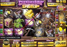 Jouer avec cette merveilleuse machine à sous 20 lignes Diggin' Deep et entrez dans la mine pour trouver l'Or !  http://www.casinobens.com/machines-a-sous-20-lignes-diggin-deep.php